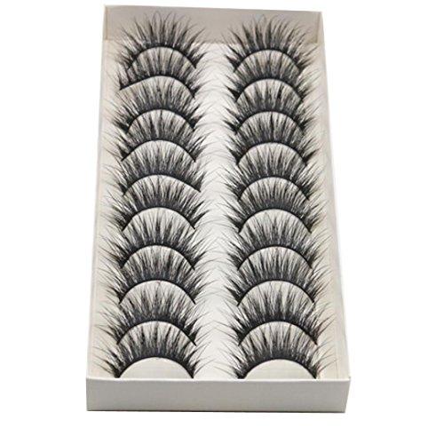 ffcfc8149d2 Eliace 50 Pairs 5 Styles Lashes Handmade False Eyelashes Set Professional  Fake Eyelashes Pack,10 Pairs Eyes Lashes Each Style,Very Natural Soft and  ...