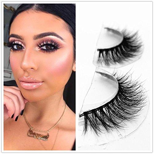 aba8ff85614 Mink 3D Lashes Dramatic Makeup High Quality Strip Eyelashes 100% Siberian  Fur Fake Eyelashes Hand-made False Eyelashes 1 Pair Package Miss Kiss  (3D04) ...