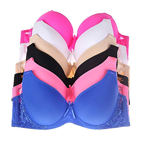 a696aa121ae12 Glamorise Women's Plus-Size Elegance Front-Close Lace Underwire Bra, Black,  ...